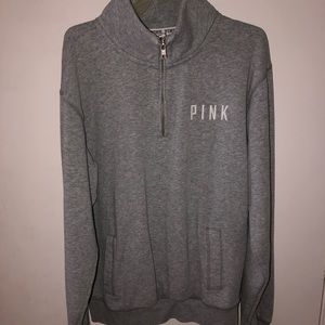 VS PINK quarter zip pullover